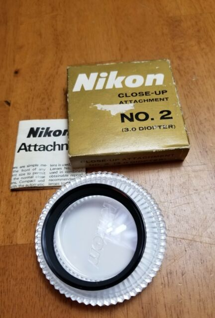 Nikon Nikkor Close-Up Attachment No. 2 (3.0 Diopter) for Nikon F, 52 mm