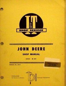 john deere 2040 shop manual