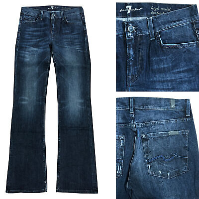 7 For All Mankind Jeans Donna Pantaloni Bootcut Vita Alta Taglia W26, W27 Nuovo-mostra Il Titolo Originale Firm In Structure