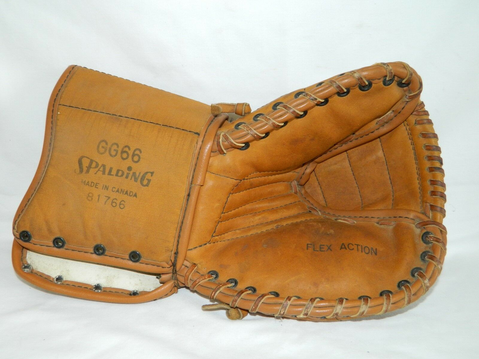 Vintage Leather Cloth Spalding GG66 Lefthand Goalie Catcher