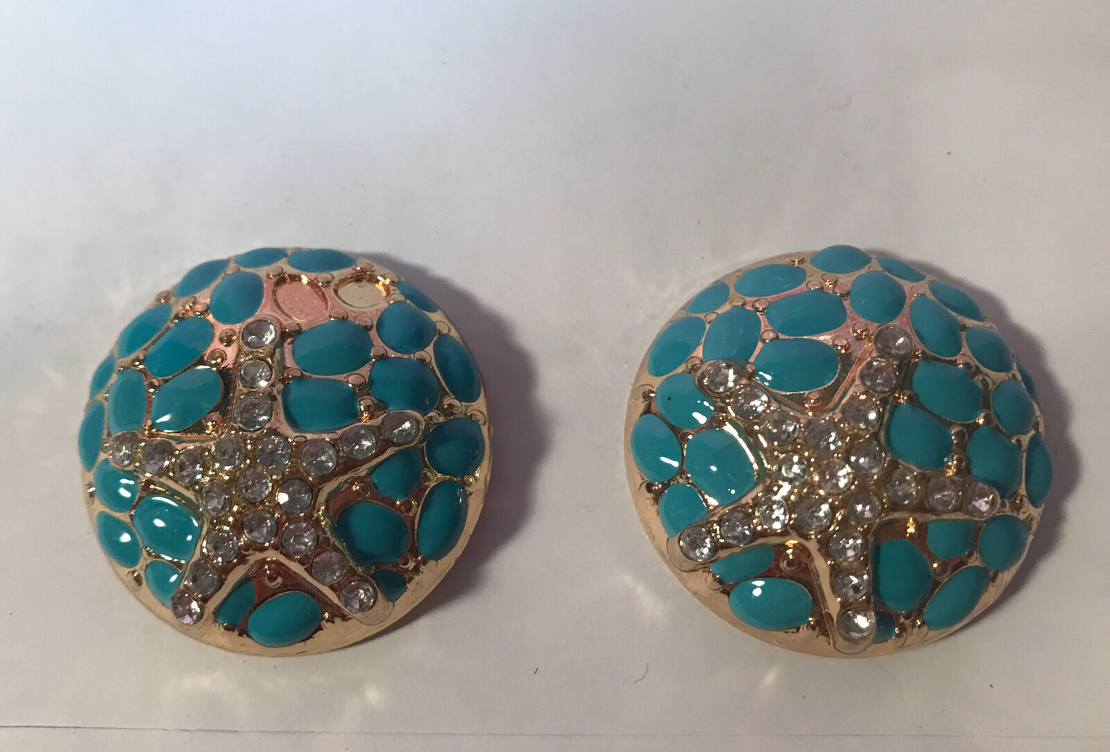 Lindsay Philips Interchangeable Shoe Snaps Decorative Charms GOLD/BLUE STARFISH