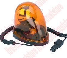 12v Auto Emergency Warning Amber Flash Revolving Alert Light Magnetic Base