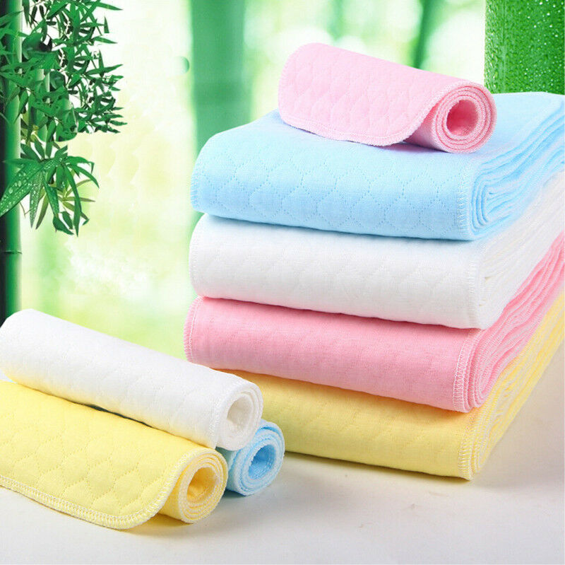 Reusable Washable bamboo Baby Cloth Diaper Nappy Liners inserts 3//6//9 Layers