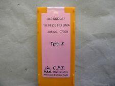 Gewindeplatten von CPT, Typ Z, 16IR Z 8 RD BMA, wie R166.OL/266RL Rundgewinde