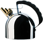 Alessi Officina Hob Premium CORDLESS Kettle with Stainless Steel, Silver - 200cl 7445024816849