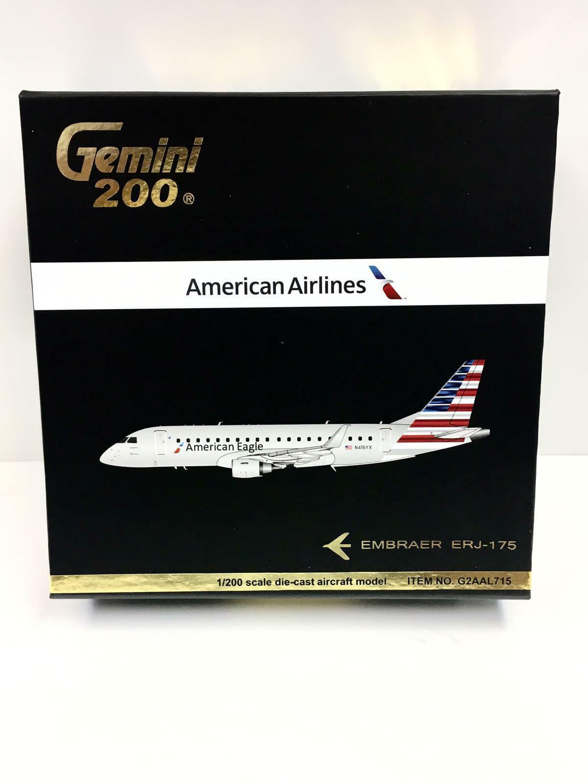 Tu satisfacción es nuestro objetivo Gemini Jets 1 200 American Airlines Embraer ERJ-175 N416YX N416YX N416YX G2AAL715  gran descuento