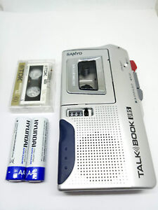 Sanyo-TRC-590M-MicroCassette-Voice-Recorder-Handheld-Dictaphone-Dictation-Silver