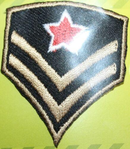 Aufbügler Aufbügelmotiv BIKER Patch Army Zeichen 2 Streifen 1 roter Stern NEU