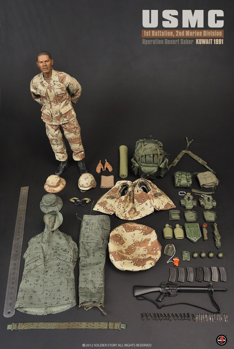 Soldier Story 1:6 SS071 USMC Desert Saber Operation Soldier Male Action Figure