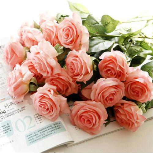 10 Stück Künstliche Blumen Rose Blumenstrauß Hochzeit Haus Dekoration Balaco