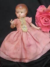 VINTAGE Effanbee PATSYETTE Patsy DOLL Composition SIDE GLANCE EYES old clothes 9