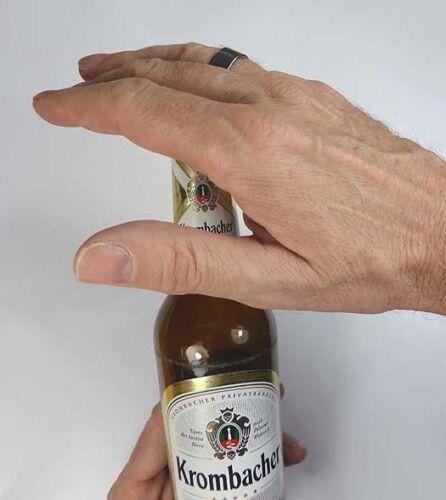 Ouvre-bouteille anneau sorcellerie tour taille 22mm acier inoxydable