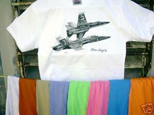 Airplane-T-Shirt-U-S-Navy-Blue-Angels-F-A18-XXL