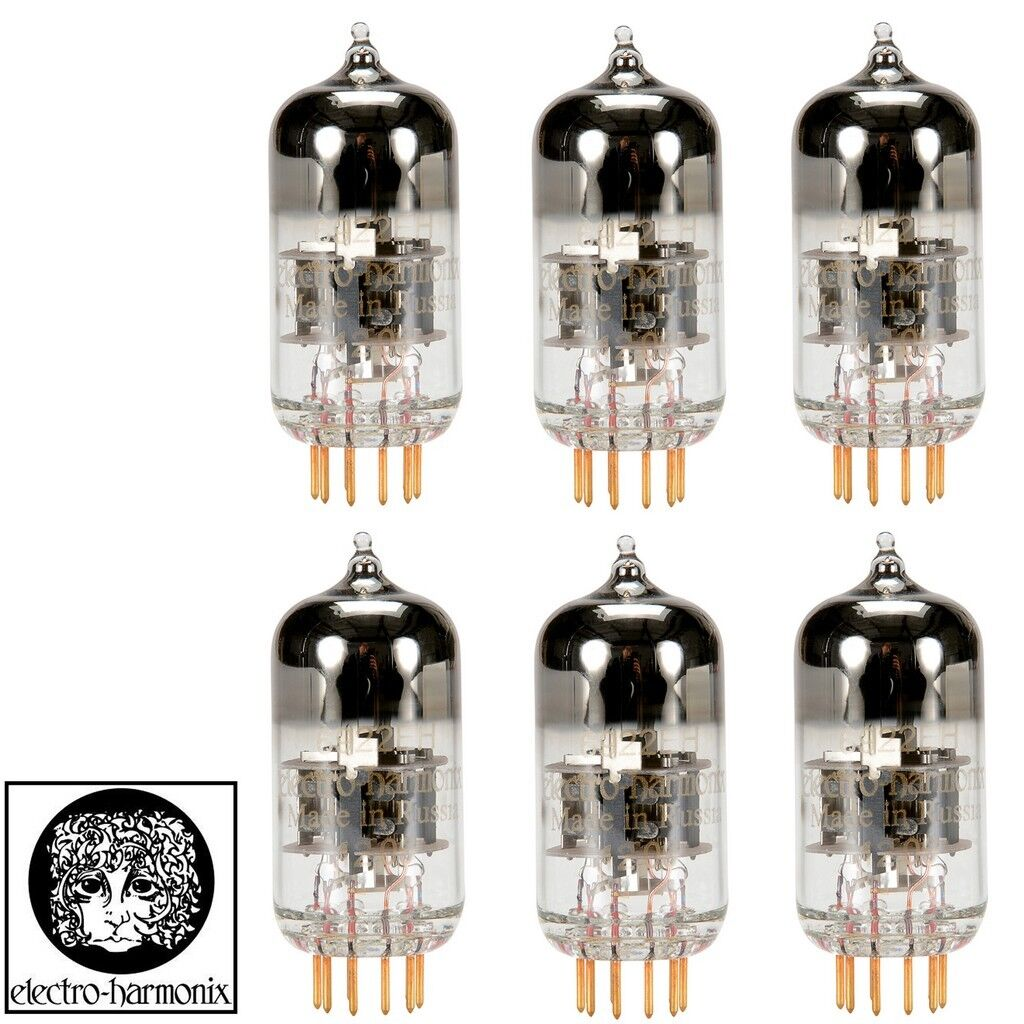 Brand New Matched Electro-Harmonix 6922 E88CC Gold PINS Sextet (6) Vacuum Tubes
