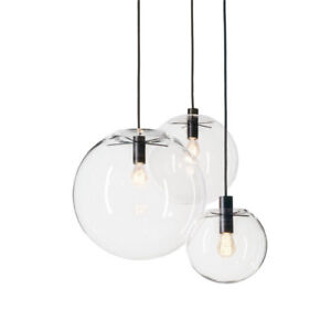 modern clear glass hanging lamp Bubble Round Ball pendant light ...