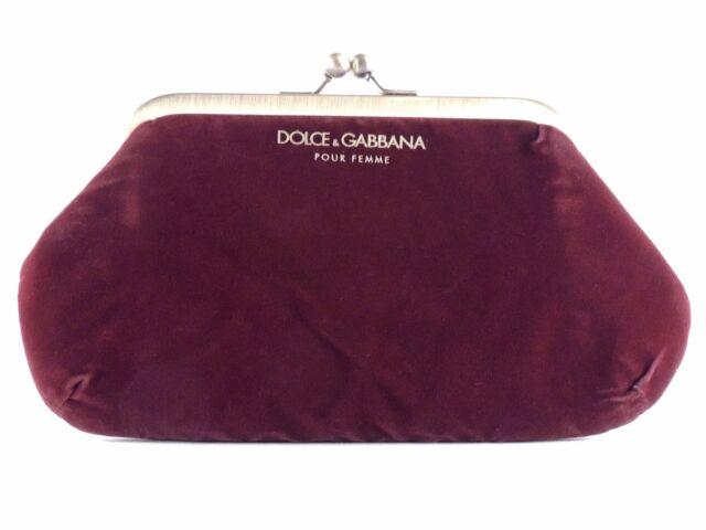 reputation first get online top-rated original Dolce & Gabbana Pour Femme Velvet Burgundy Clutch Purse Evening Bag