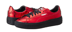 Puma 36233905 cesto metallico wmn piattaforma (m) rossi, scarpe da ginnastica sintetiche