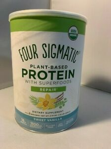 Four Sigmatic Plant Based Protein, Repair, Sweet Vanilla, 21.16 oz
