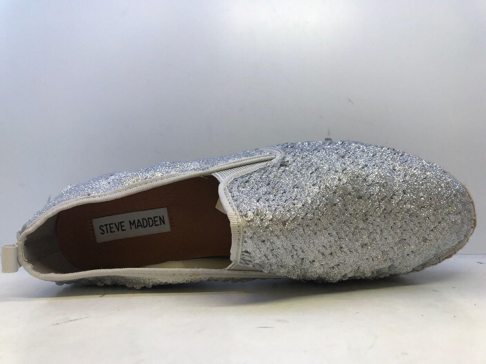 ab99f03fc50770 ... Steve Madden Poppi Femmes argent pailletées Espadrilles Chaussures UK  Taille Taille Taille 6 | Jolie Et