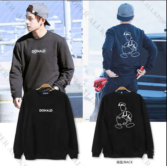Kpop  BTS  V Sweatershirt Bangtan Boys Sweater Airport Looking Hoodie