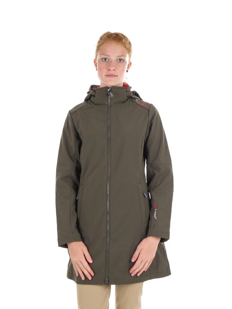 Cmp Softshellmantel Veste Woman Coat Zip Hood Marron Coupe-vent Saumon-l Jacke Woman Coat Zip Hood Braun Winddicht Wärmend