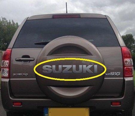 Genuine Suzuki GV Grand Vitara SPARE WHEEL COVER BADGE Silver 77821-65J01-ZGH
