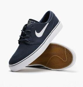 Nike SB Zoom Stefan Janoski Canvas OBSIDIAN NAVY BLUE WHITE 615957 ... 16ddbb7cac