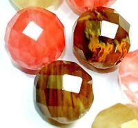 """10mm Faceted Multi-Color Watermelon Tourmaline Gemstone loose Beads 15"""" JL130"""