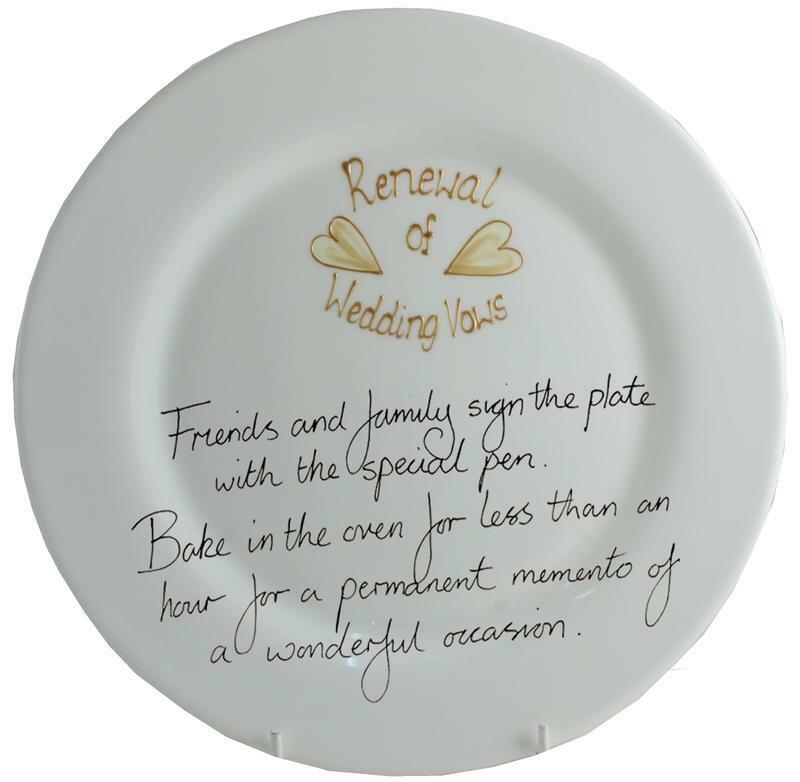 Renewal Of Wedding Vows Gift Plate (Rd)