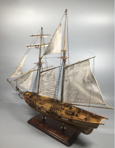 Scale-1-96-Laser-cut-Wooden-sailboat-Model-kit-The-HARVEY-1847-ship-model