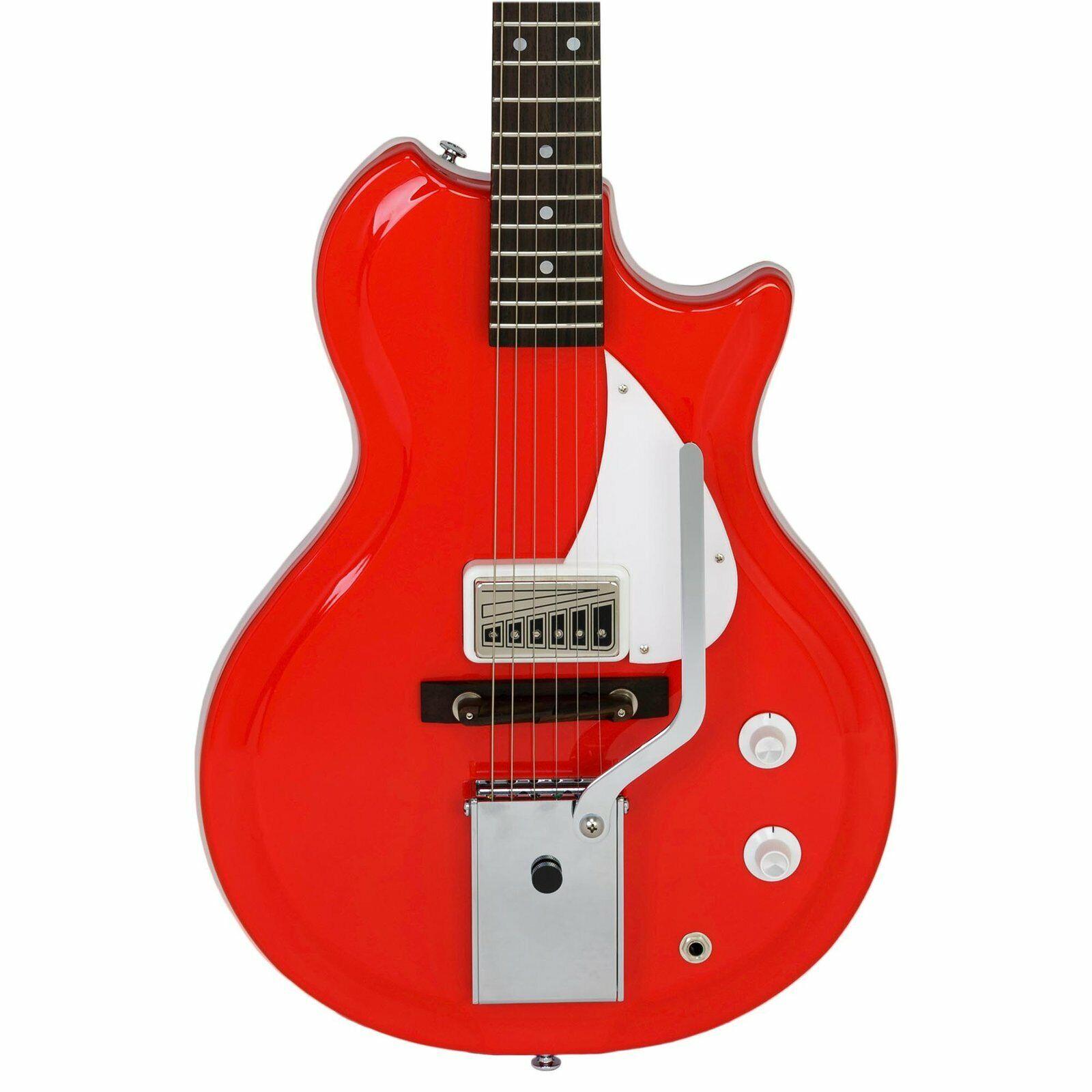 Supro 1572VPR Belmont Vibrato Americana Series Electric Guitar - Poppy rot