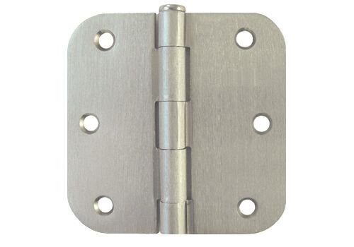 "21 Satin Nickel 3.5/"" w 5//8/"" Radius Interior Round Corner Door Hinges 3 1//2 Inch"
