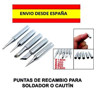 SOLDADOR-CAUTIN-PUNTAS-DE-RECAMBIO-LOTE-DE-5-DISENOS-DISTINTOS-ELECTRONICA-MoVIL
