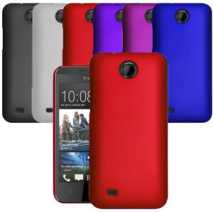 For-HTC-Desire-300-Hybrid-Plastic-Hard-Case-Slim-Phone-Cover-amp-Screen-Protector