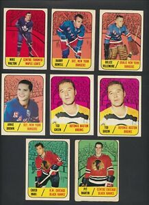 1967-68-Topps-NHL-Hockey-Cards-U-Pick-Choose-Single-Cards-to-Complete-Set