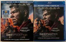 DEEPWATER HORIZON BLU RAY DVD 2 DISC SET + SLIPCOVER SLEEVE FREE WORLD SHIPPING