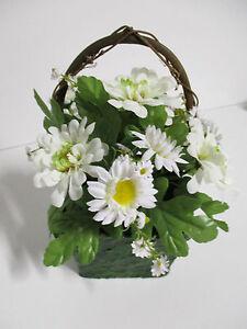 Das Bild Wird Geladen Angebot Fruehlingsdeko Kuenstlich Weiss Gesteck Holz  Deko Fruehling