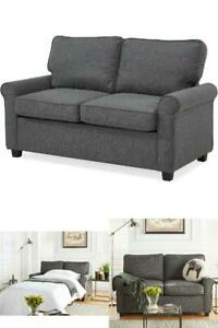 Details About Memory Foam Loveseat Sleeper Sofa Bed Traditional Couch Convertible Mattress New