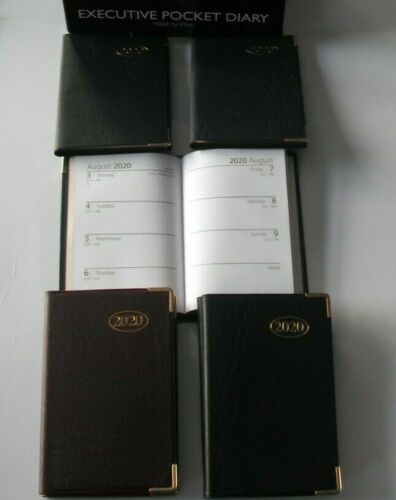 Executive Pocket A7 Slimline 2020 Week to View Diary with Corner Protectors