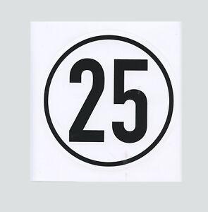 Frugal Tracteur Remorque Bouclier Vitesse 25 Km/h Limitation Bouclier-t Schild 25 Km/h Begrenzungsschild Fr-fr Afficher Le Titre D'origine Qualité SupéRieure (En)