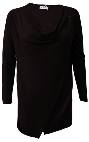 Wrap Front Cowl Neck Cashmere Jumper One Size Trendy Collection Made in Italy