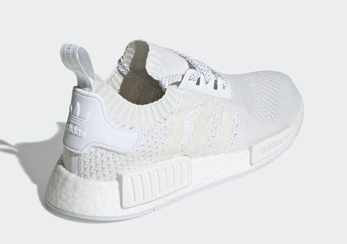Men's Adidas NMD R_1 PK Primeknit OG Knit Triple White Fashion ...