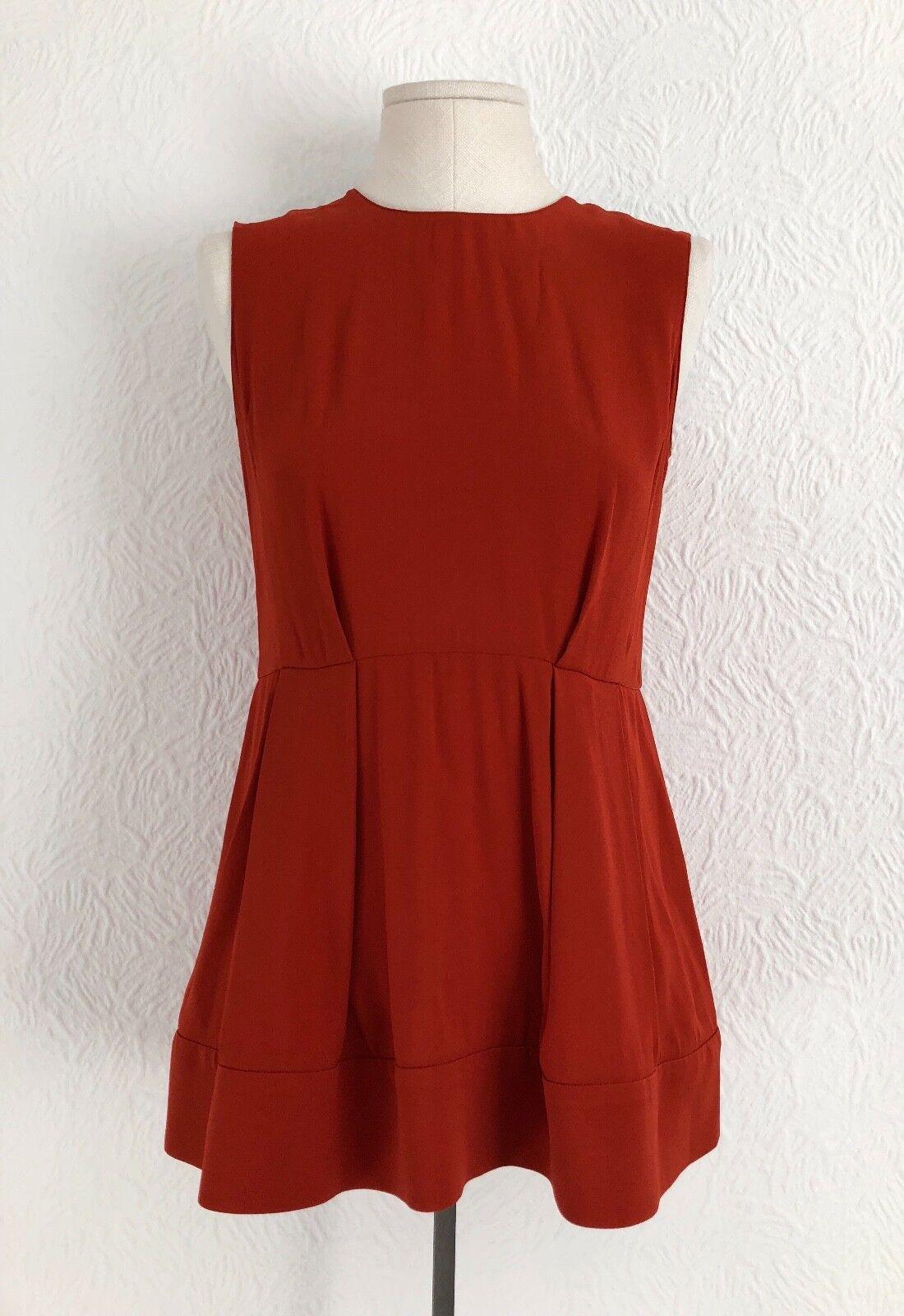 Marni - Orange-Brick Sleeveless Top -