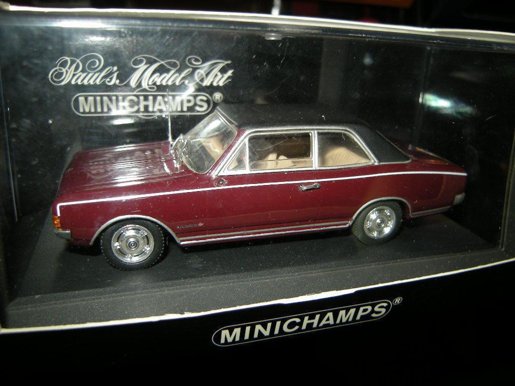 1 43 Minichamps Opel Commodore A 1966 Dark rouge Rouge foncé Nº 430046161 neuf dans sa boîte