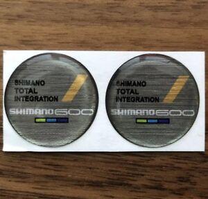 Resin-Dome-Sticker-Shimano-600-6400-STI-8-Speed-Shifter-Faceplate-Logo-Decal-Cap