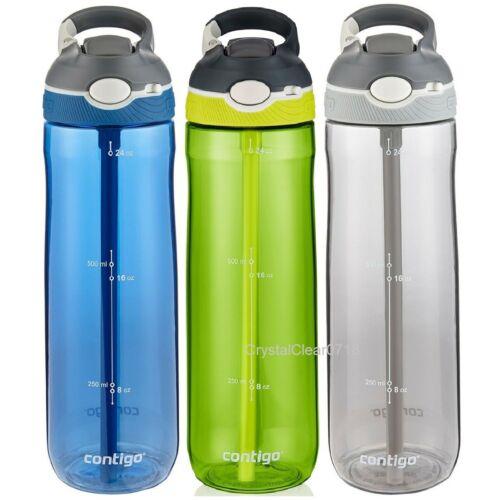 Contigo Autospout Ashland 24 oz 709ml W//straw BPA-free Water Bottle 6 Colours