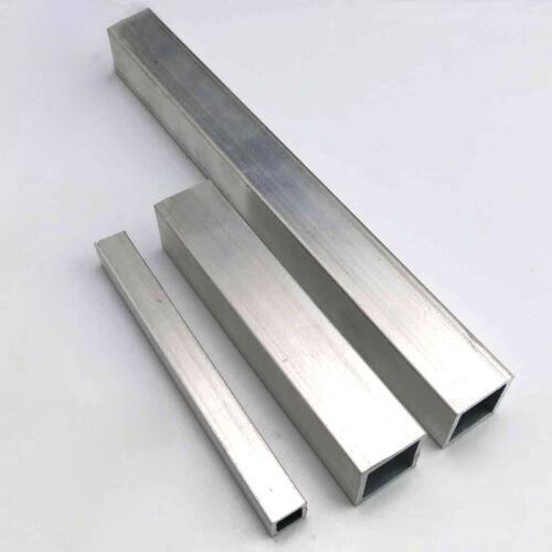 1x Aluminum Square Tube Metal Alloy Box Tubing Section T6063 Model DIY Pick Size