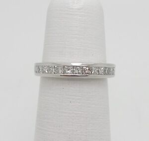 Zales 3 4ct Princess Cut Diamond Anniversary Wedding Band Ring 14k