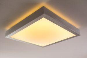 Details zu LED Deckenleuchte Design Lampe Deckenlampe Badezimmer Bad 18  Watt IP44 warmweiß