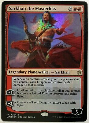 NRMINT SARKHAN THE MASTERLESS WAR OF THE SPARK FREE SHIPPING